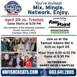 Save the Date for the NH Fisher Cats Chamber Mixer