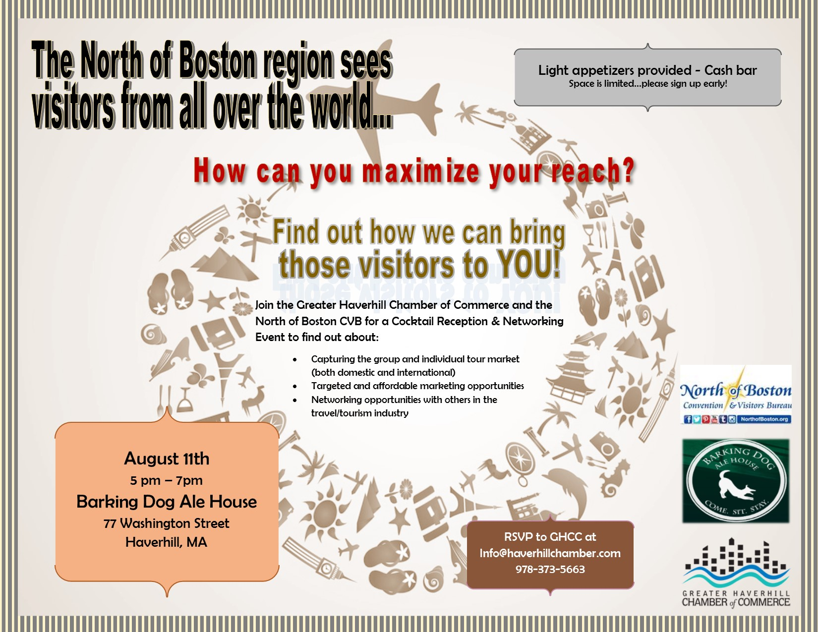 Chamber partners with North of Boston Convention & Visitor's Bureau to assist local businesses attract tourists to region