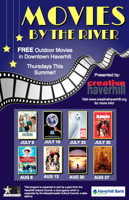 Creative Haverhill launches FREE family summer movie nights