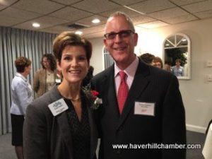 Stacey Bruzzese, President/CEO of the Greater Haverhill Chamber of Commerce is pictured here with her nominator, Attorney Thomas Sullivan.