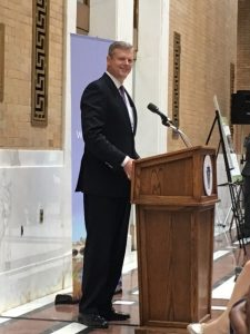 awards were officially recognized at an event at the Massachusetts State House with Governor Charlie Baker on November 5