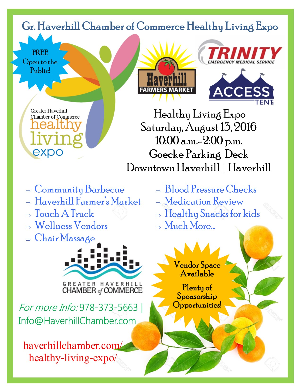 Greater Haverhill Chamber Readies for 2nd Annual Healthy Living Expo