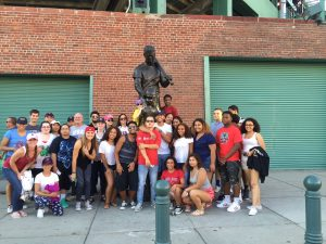 36 members of the Boys & Girls Club of Lawrence enjoyed a Boston Red Sox Game on July 21 thanks to the Jaffarian Youth in Motion. Youth traveled to Boston in Coach buses to watch the Red Sox defeat the Minnesota Twins 13-2.  For Marketing Matters of North Andover sponsored a portion of the event and gave spending money to all members so they could enjoy a Fenway frank and drink.