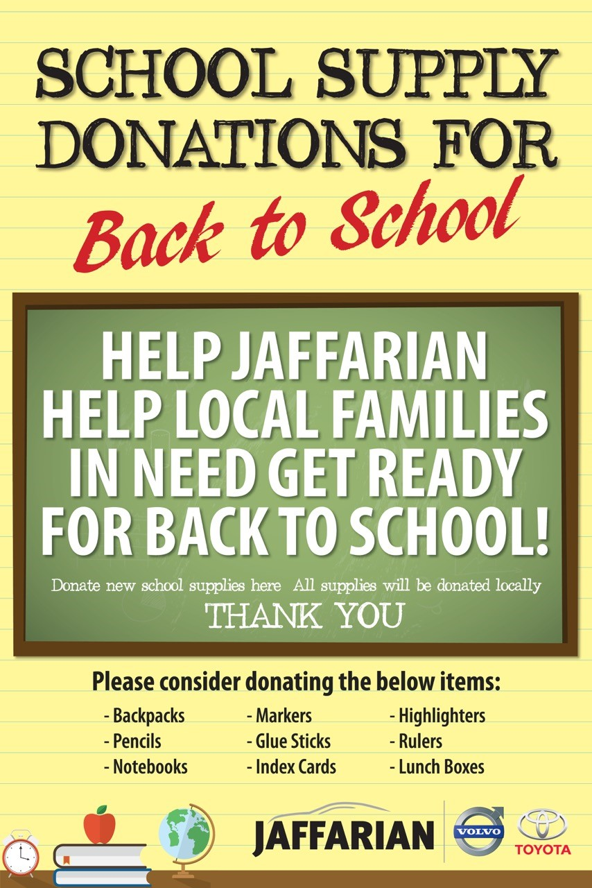 Jaffarian hosts back-to-school drive
