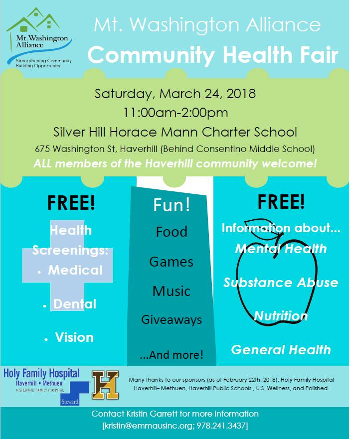 Mt. Washington Alliance Community Health Fair